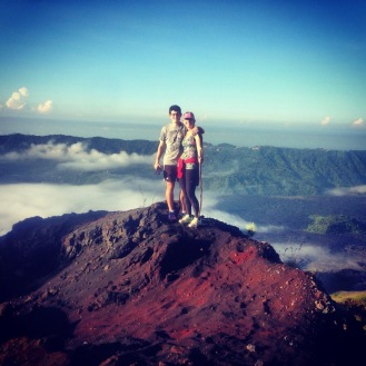 At the top of Mount Batur